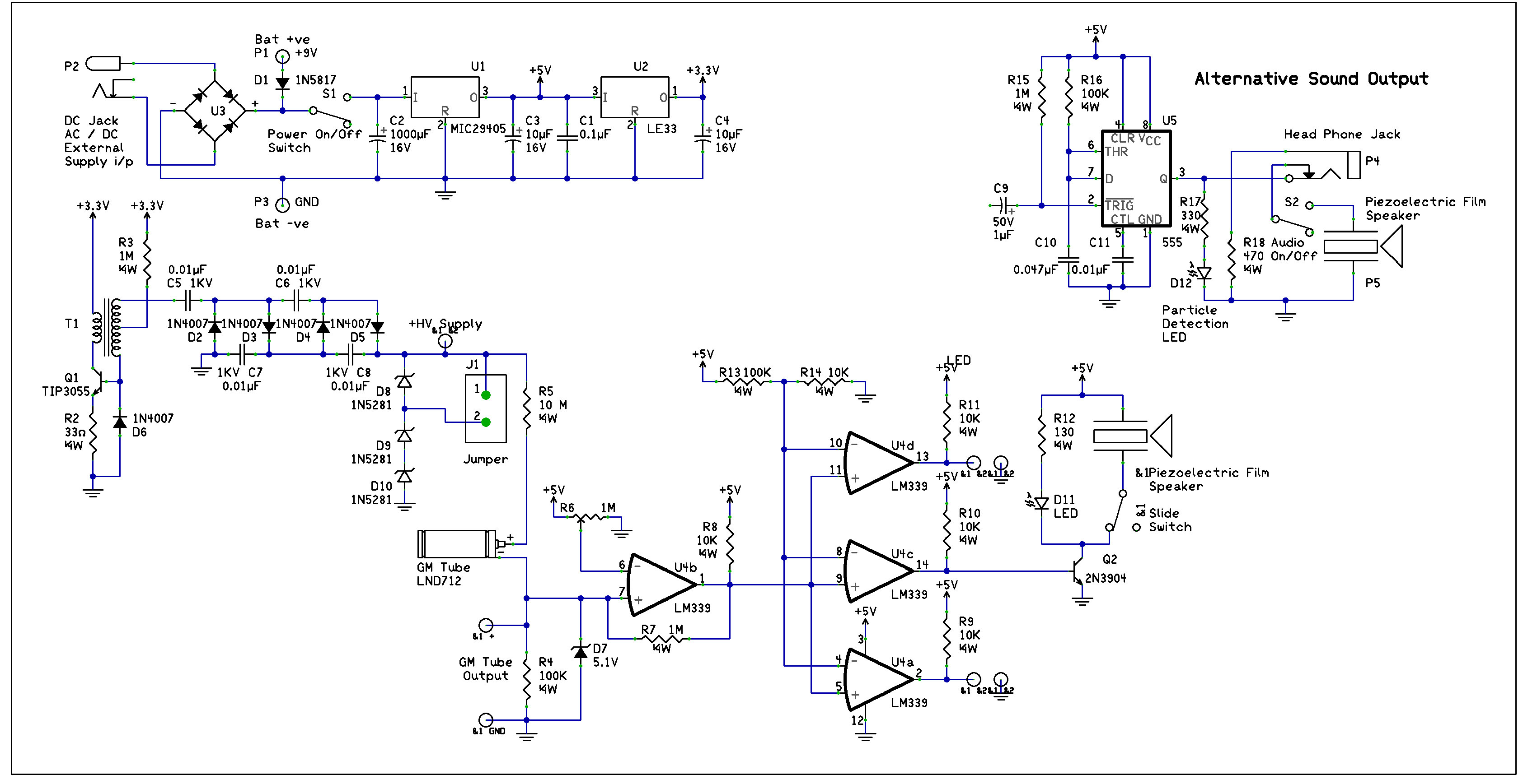 Make Volume 29 Web Extras And Downloads Lm339 Circuit Diagram Schematic Including Alternative Sound Output