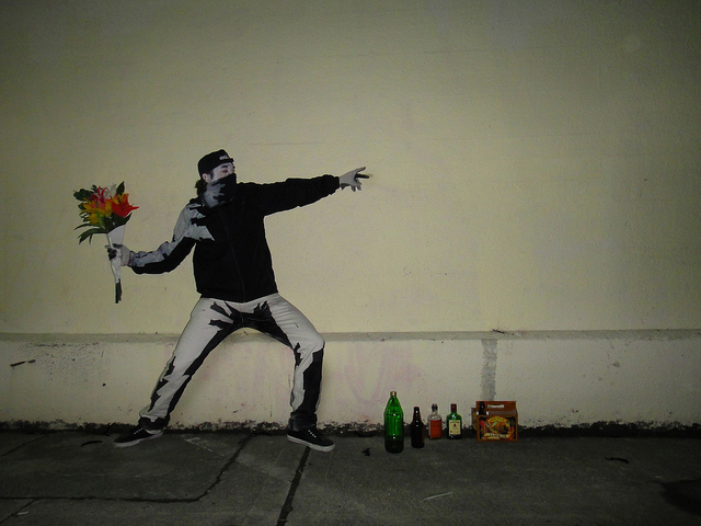 "Amazing Banksy ""Flower Thrower"" Costume"
