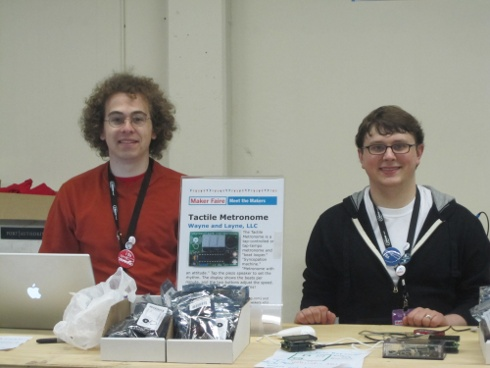 Wayne and Layne at the Maker Shed in 2010