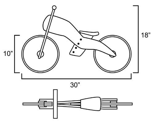 homemade wooden coaster bike