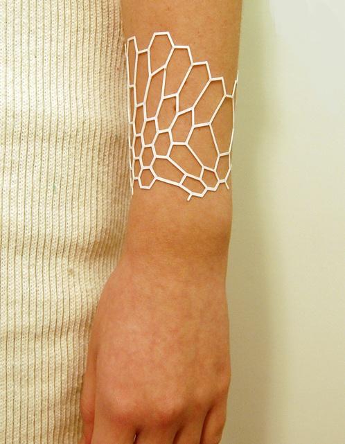 Laser cut styrene bracelet