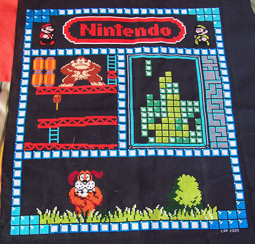 Nintendo Cross Stitch Sampler Make