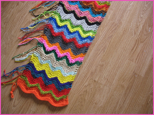 Zig Zag Scarf Knitting Pattern : Knit ripples zig zag scarf make