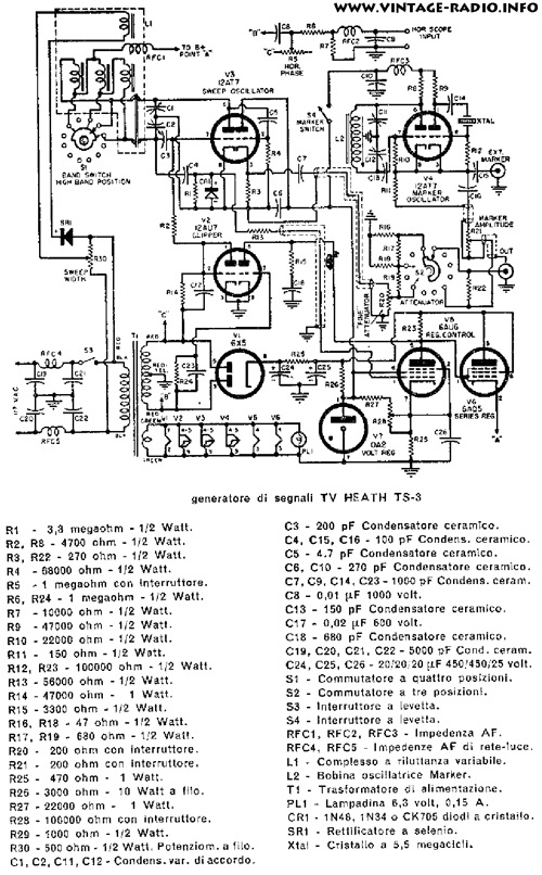 heathkit schematic diagram archive