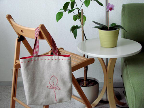 Linentote Embroidered