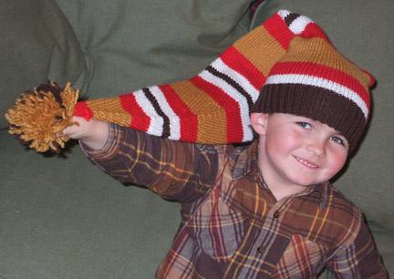 Stocking Hat Knitting Pattern : Long Stocking Cap Patterns Make: