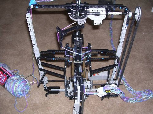 Lego Knitting Machine