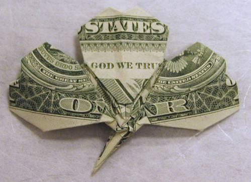 shamrock origami