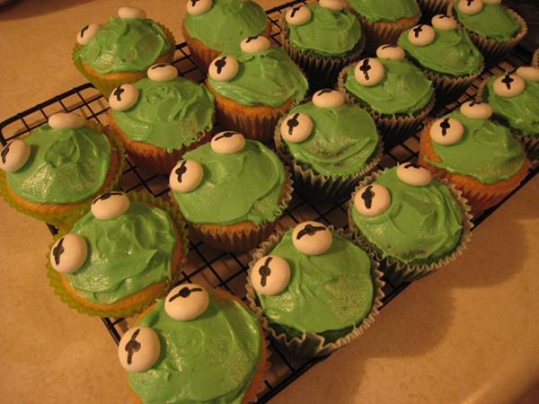 Kermit Cupcakes Make