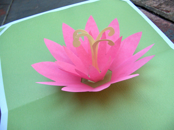 HOW TO - Lotus Pop-Up Card | Make: