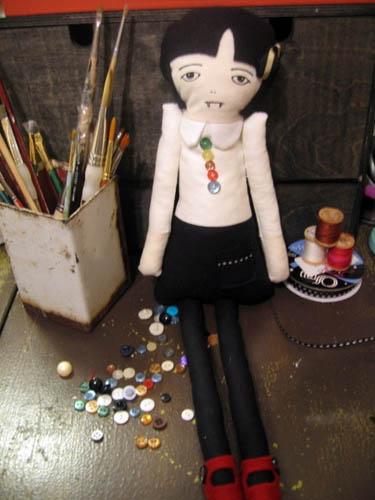 vampire peg leg doll
