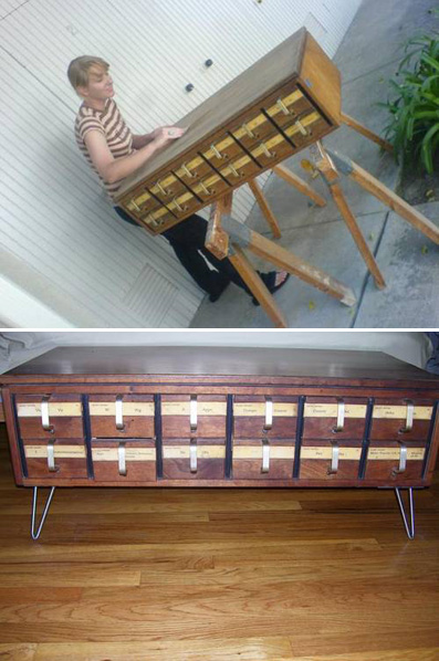 Card Catalog Coffee Table Make