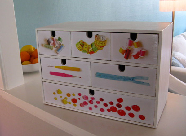 How to revamped ikea drawers make for Cardboard drawers ikea