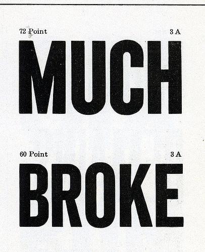 much broke sign