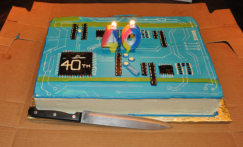 Circuit Board-Inspired Cake Make:
