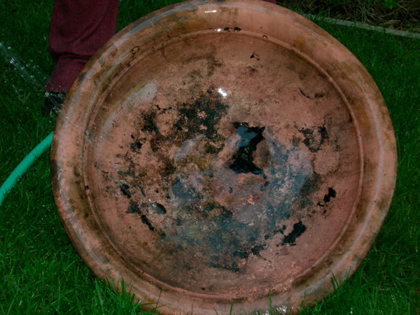 Cleaning Fire Pit : Removing firescale patina from copper make
