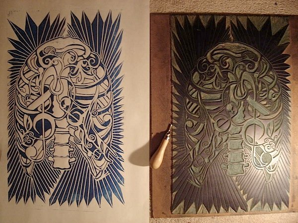 How to linoleum block printing make