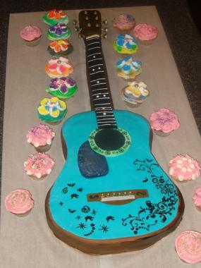 Guitarshaped Birthday Cake Make
