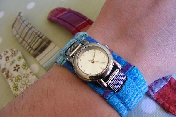 Как сделать ремешок для часов из ткани своими руками 40