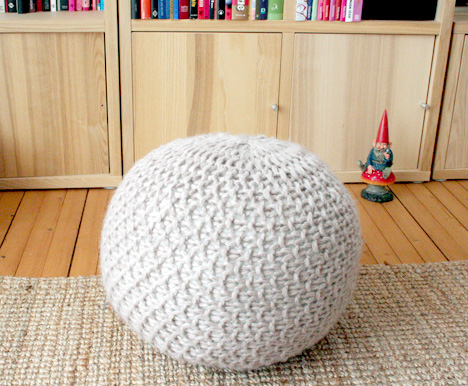 Knitted Poufs Patterns | Make: