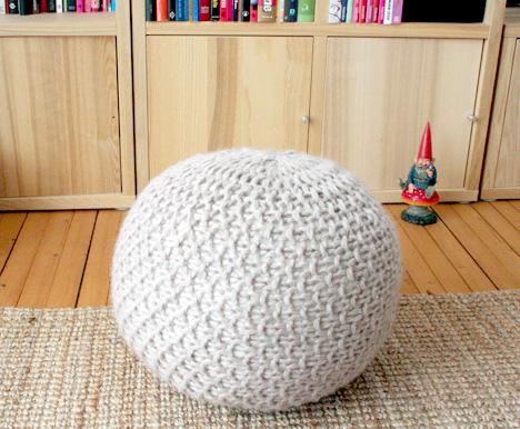 Knitted Poufs Patterns   Make: