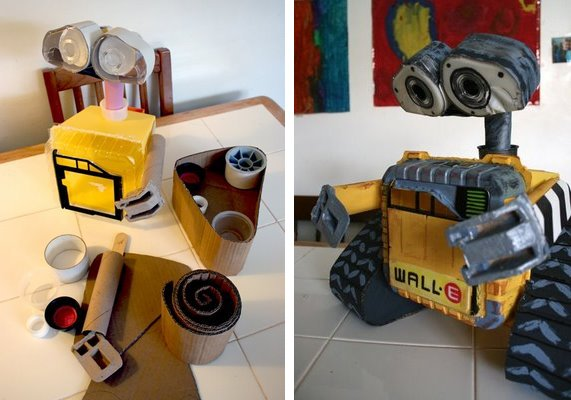 Wall E Robot Made From Recycled Materials