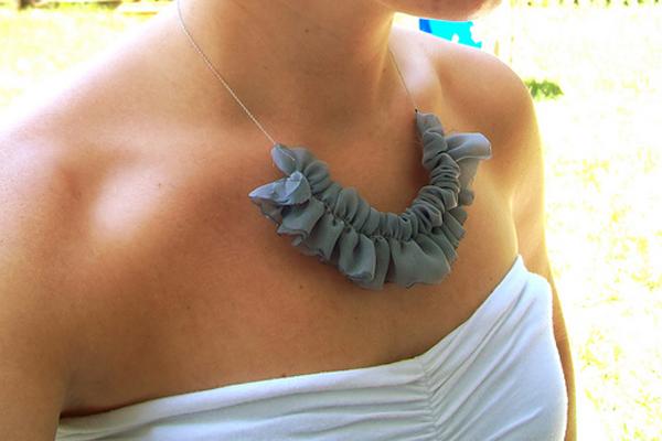 Fabric Rufflenecklace