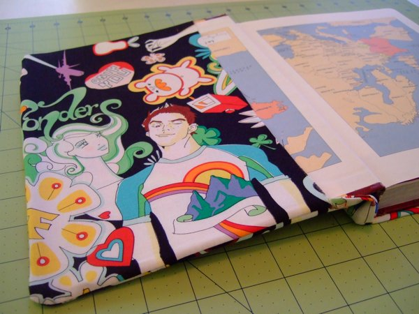 Fabric Book Cover Design ~ How to sew a simple fabric book cover make