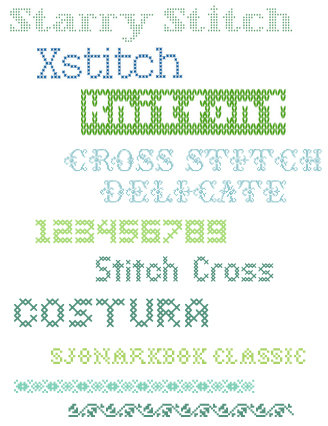 Fonts Stitched-Type2