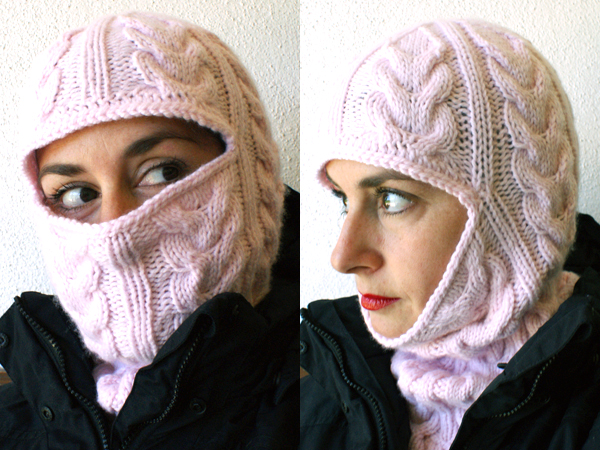 Knitting Pattern For A Balaclava : From Russia, with Love: Cabled Balaclava Make: