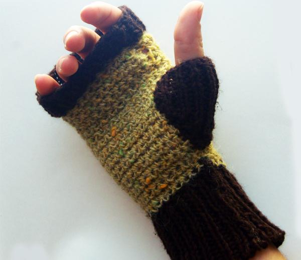 Sock Knitting Pattern Generator : Compost Critters: Fingerless Mitten Pattern Make: