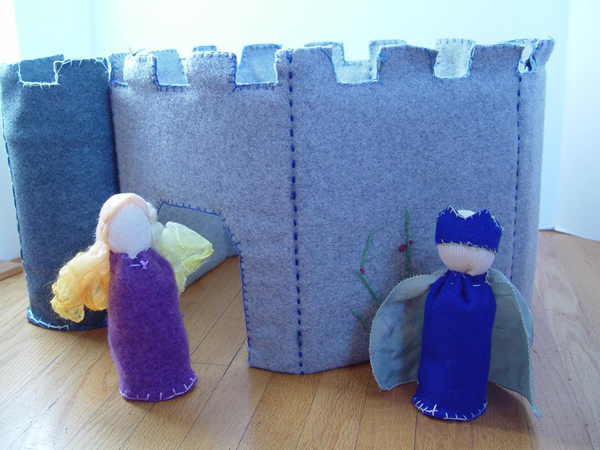 how to make a castle out of playdough