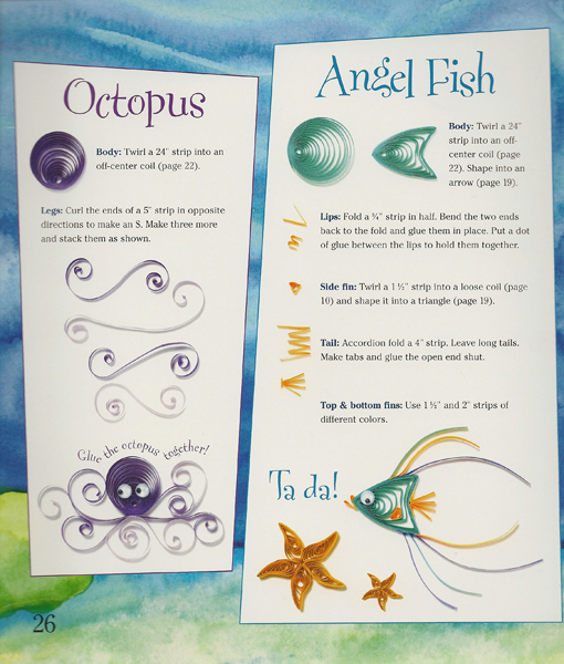 How To Make A Twirled Paper Octopus amp Angel Fish