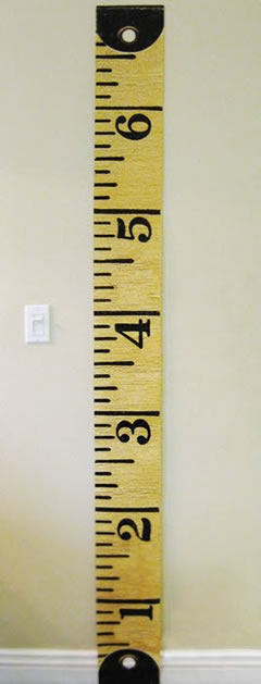 Revered image with printable measuring