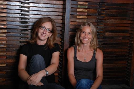 jen & fran june 2009 press kit smiling.cabinet