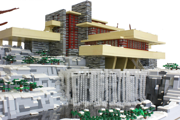 Lego minifig scale fallingwater make - Falling waters lego ...