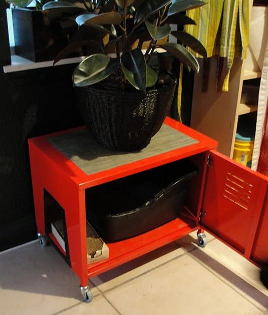 Ikea hacked litter box locker make - Mueble rojo ikea ...