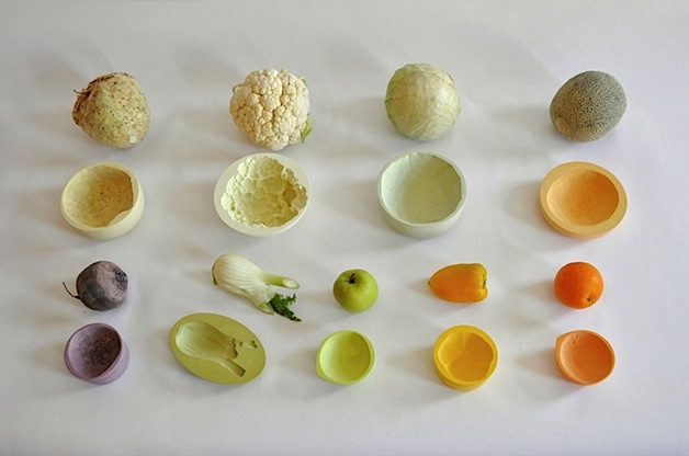 Ceramic bowls molded from vegetables make - Monoprix art de la table ...