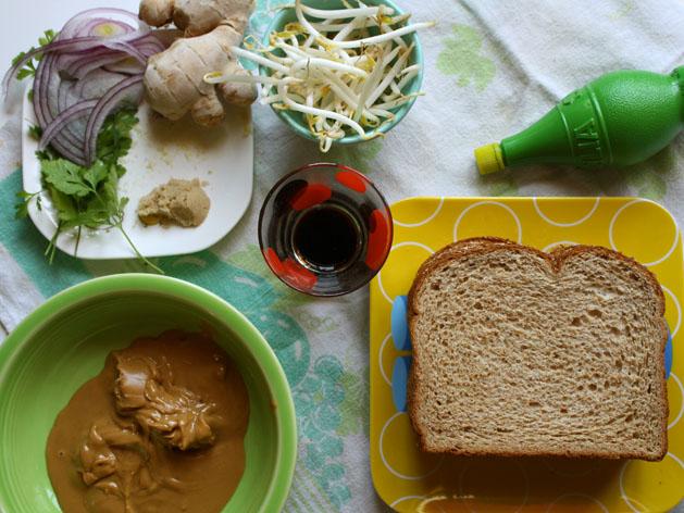 Satay Spiced Pb Sandwich Step1
