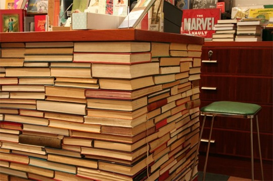Counter Made From Books Make