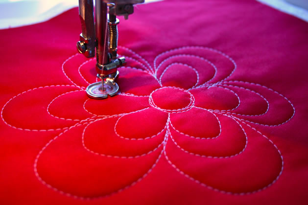 How To Machine Quilting Loopy Flowers Make