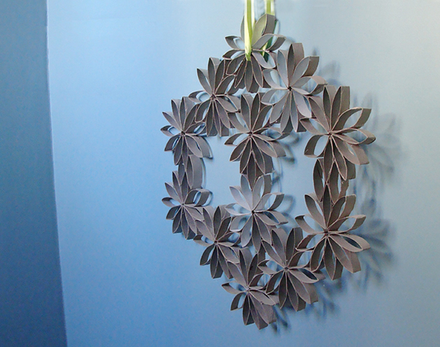 how to toilet paper roll wreath make