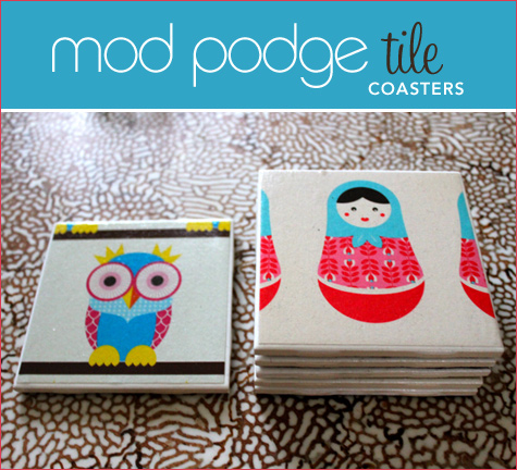 How To Modge Podge Tile Coasters Make