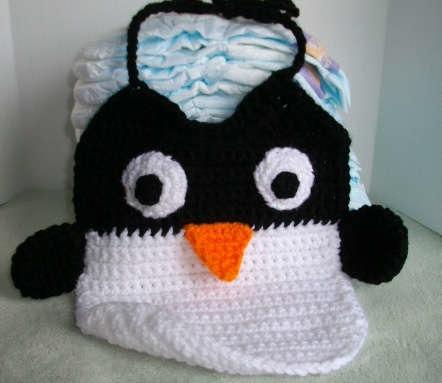 Amigurumi Owl Beak : How-To: Crochet Penguin Bib Make: