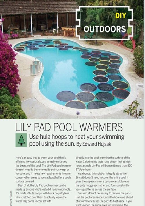 Weekend project lily pad pool warmers pdf make diy projects how tos electronics crafts - Cool pool covers ...