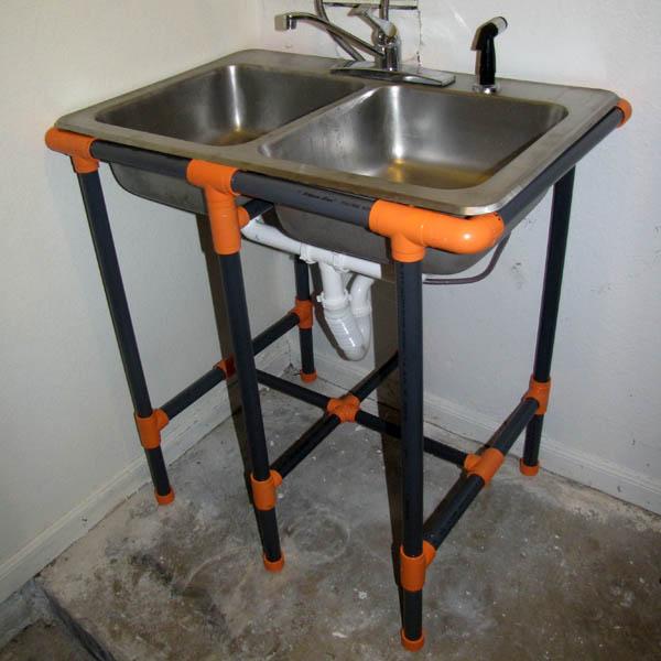 Make: Projects - PVC utility sink stand - Make: Make: