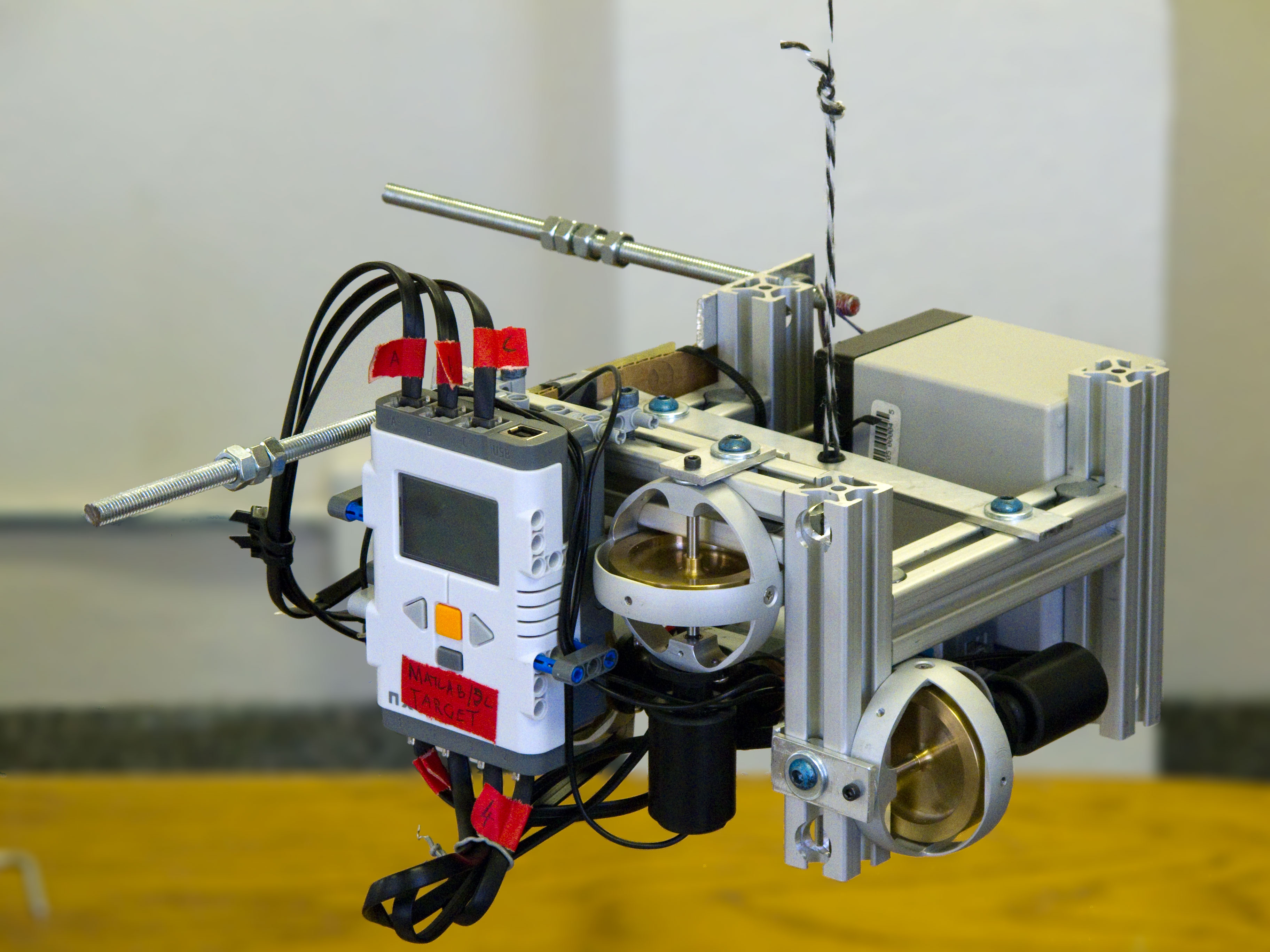 A fully functioning satellite prototype built from Lego Mindstorms NXT.