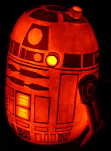 r2 d2 pumpkin and a death star pumpkin carving how to make