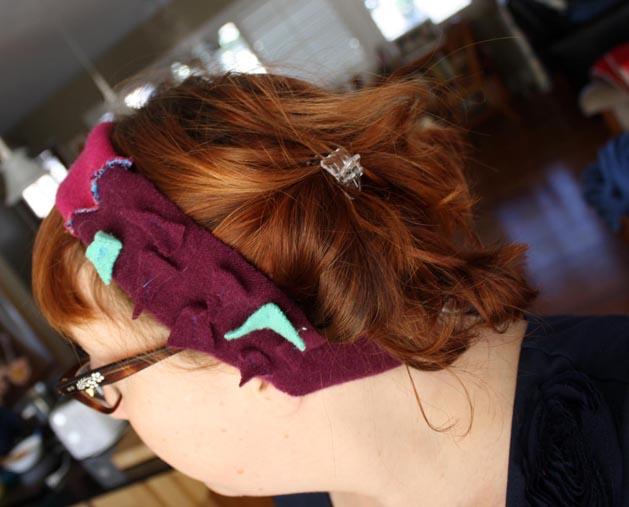 Felted Headband Step13B