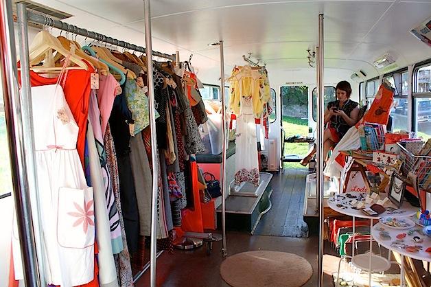 vintage store in a bus lodekka make. Black Bedroom Furniture Sets. Home Design Ideas